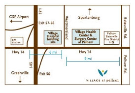 pelham office location map